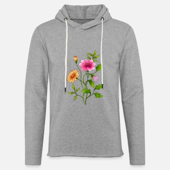 Flowers Hoodies & Sweatshirts - flowers - Unisex Sweatshirt Hoodie heather grey