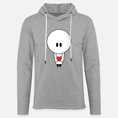 Give you my heart - Lichte hoodie unisex