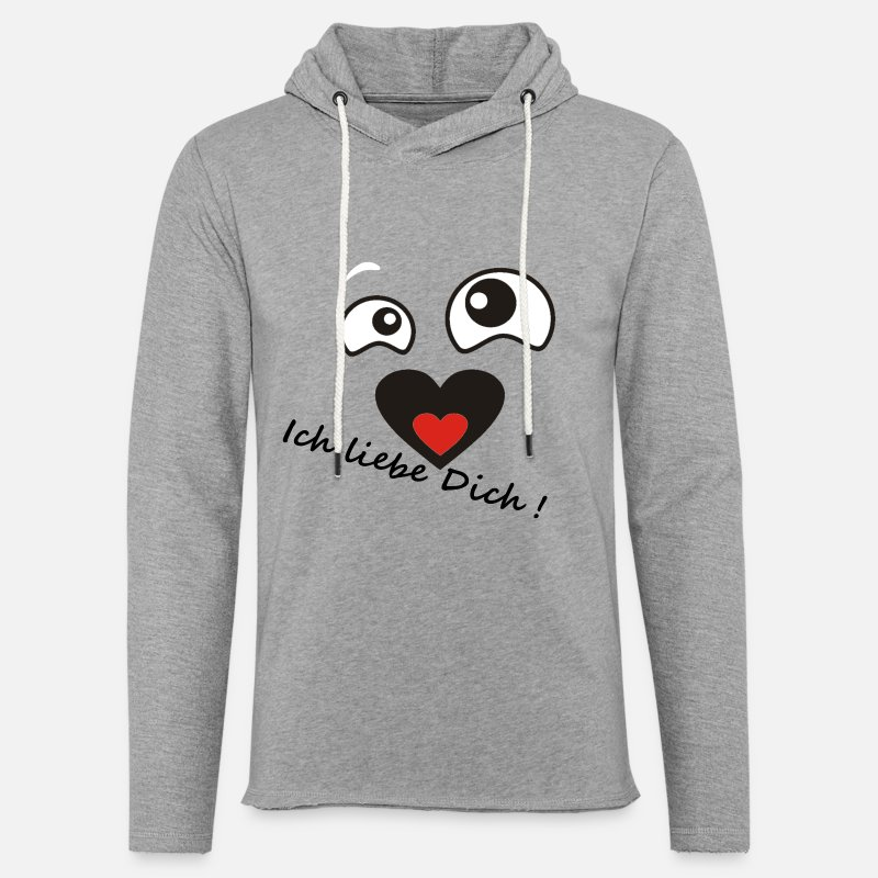 Love Hoodies & Sweatshirts - I love you in love - Unisex Sweatshirt Hoodie heather grey