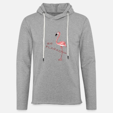 Flamingo Flamazing cartoon flamingo girlie gift fun - Light Unisex Sweatshirt Hoodie