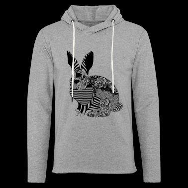 HAS RABBIT T-SHIRT - Light Unisex Sweatshirt Hoodie