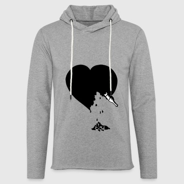 destroyed heart - Sweat-shirt à capuche léger unisexe
