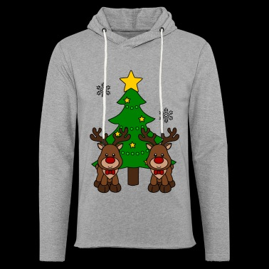 Moose with tree - Light Unisex Sweatshirt Hoodie