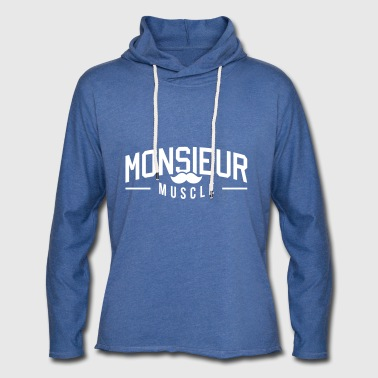 Monsieur-muscle - Sweat-shirt à capuche léger unisexe