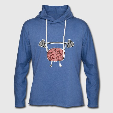 I Train My Brain Funny Anti Fitness - Light Unisex Sweatshirt Hoodie
