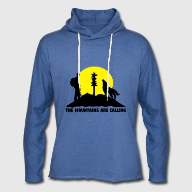 Hikingoman - The mountains are calling - Felpa con cappuccio leggera unisex
