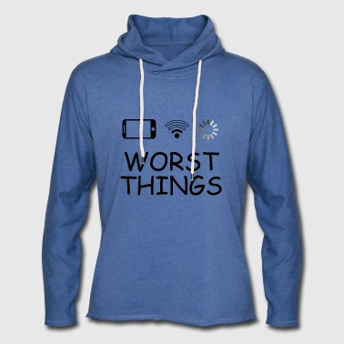 SMARTPHONE WORST THINGS - Let sweatshirt med hætte, unisex