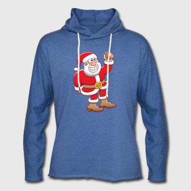 Santa Claus nervously grinning and taking  - Light Unisex Sweatshirt Hoodie