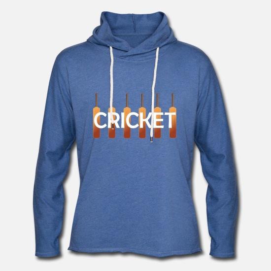 Bowler Hoodies & Sweatshirts - Cricket - Unisex Sweatshirt Hoodie heather blue