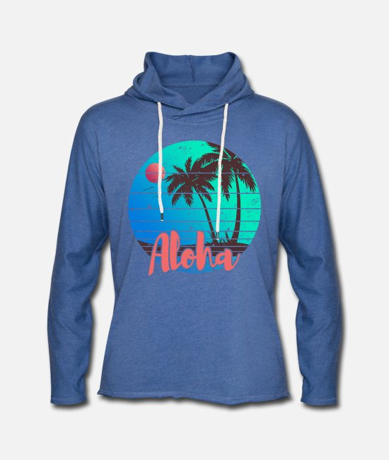 Surfer Hoodies & Sweatshirts - Aloha - Unisex Sweatshirt Hoodie heather blue