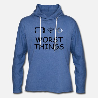 SMARTPHONE WORST THINGS - Sweat-shirt à capuche léger unisexe