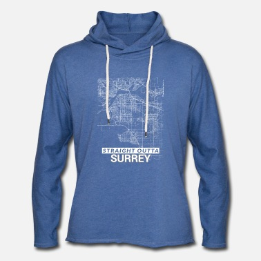 Surrey Straight Outta Surrey city map and streets - Unisex Sweatshirt Hoodie