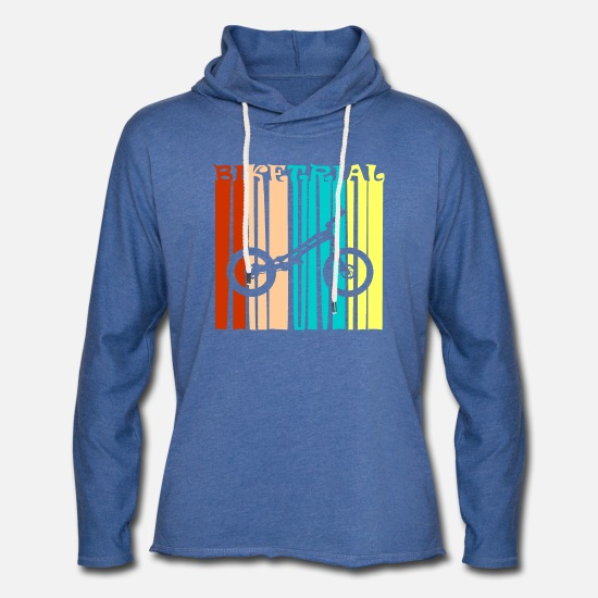 Motorcycle Hoodies & Sweatshirts - Biketrial Lyrics - Unisex Sweatshirt Hoodie heather blue