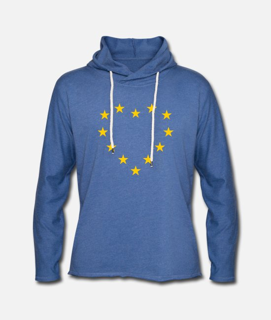 EU Hoodies & Sweatshirts - EU flag as heart - Europe flag - Unisex Sweatshirt Hoodie heather blue