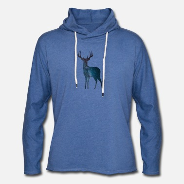 Milky Way Deer milky way star - Light Unisex Sweatshirt Hoodie