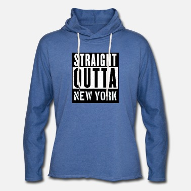 Straight Outta New York - Sweat à capuche léger unisexe
