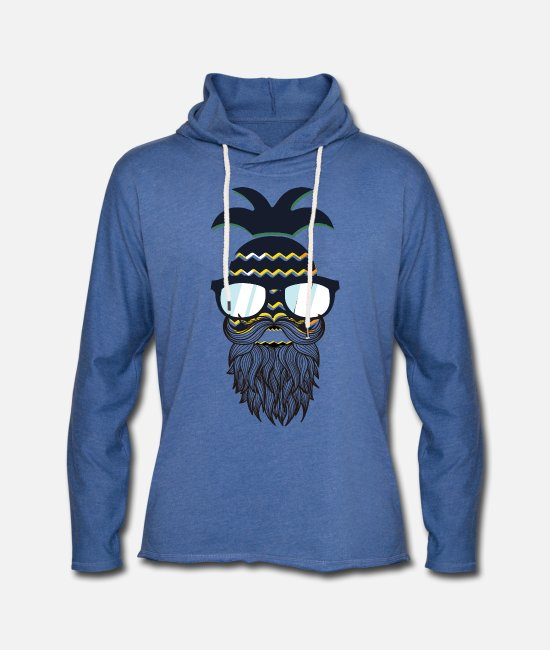 Beard Hoodies & Sweatshirts - Funny perfect hipster pineapple - Unisex Sweatshirt Hoodie heather blue
