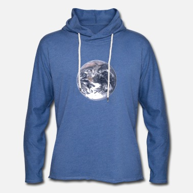 Cosmic Earth Universe Blue planet - Light Unisex Sweatshirt Hoodie