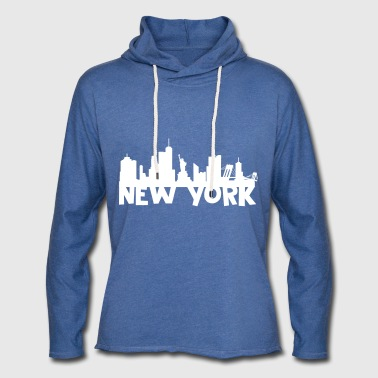 New York Skyline - Let sweatshirt med hætte, unisex