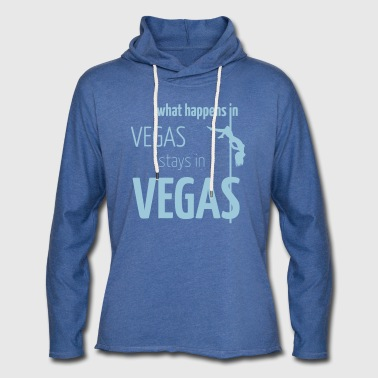 what happens in vegas... - Leichtes Kapuzensweatshirt Unisex
