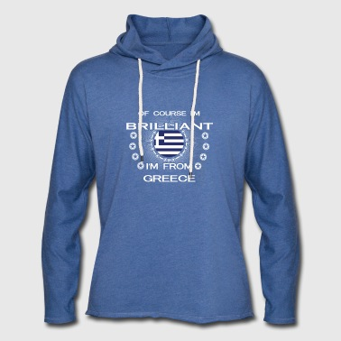 I AM GENIUS CLEVER BRILLIANT GREECE - Leichtes Kapuzensweatshirt Unisex