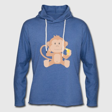 Monkey with banana - Light Unisex Sweatshirt Hoodie