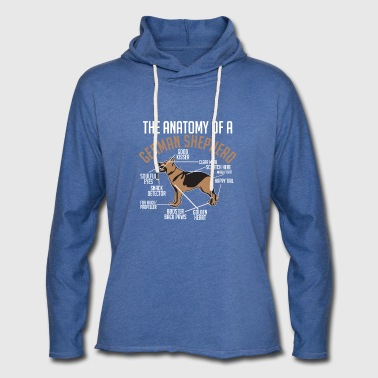 The Anatomy Of A German Shepherd - Light Unisex Sweatshirt Hoodie