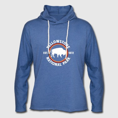 Yellowstone Nationalpark Bison EST 1872 - Leichtes Kapuzensweatshirt Unisex