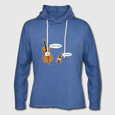Personificated Cello sier til personificated Violin - Lett unisex hette-sweatshirt