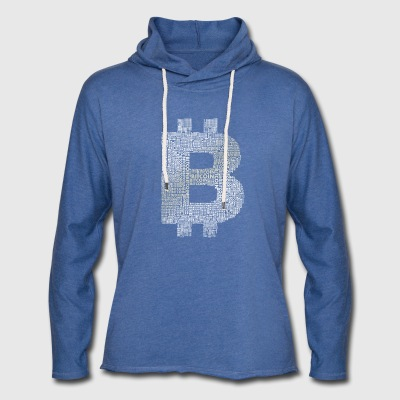bitcoin symbol money internet pc computer currency - Light Unisex Sweatshirt Hoodie
