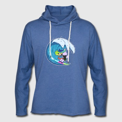 Unicorn Surfer Girl - Let sweatshirt med hætte, unisex