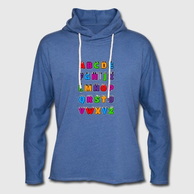 Alphabet letters Kawaii ABC for children. Drawings - Light Unisex Sweatshirt Hoodie