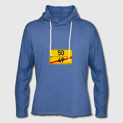 Ortsschild 49-50 - Light Unisex Sweatshirt Hoodie