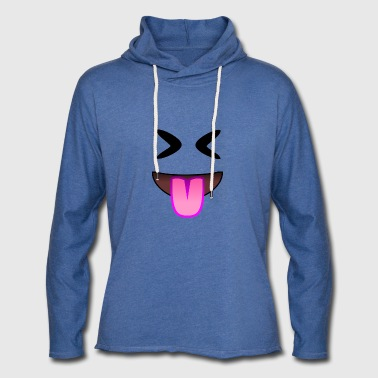 Showing tongue and nasty laugh - Light Unisex Sweatshirt Hoodie