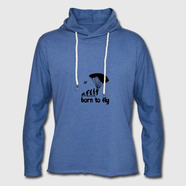 Evolution Skydiving - born to fly - Light Unisex Sweatshirt Hoodie