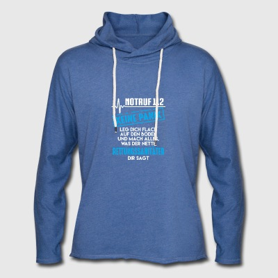 Paramedic, Emergency 112 not panic - Light Unisex Sweatshirt Hoodie