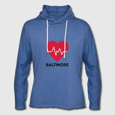coeur Baltimore - Sweat-shirt à capuche léger unisexe