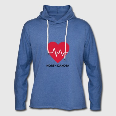 Heart North Dakota - Light Unisex Sweatshirt Hoodie