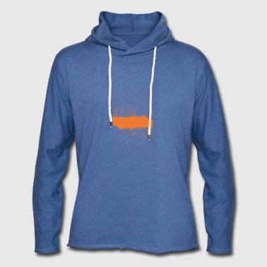 orange brush sketch - Light Unisex Sweatshirt Hoodie
