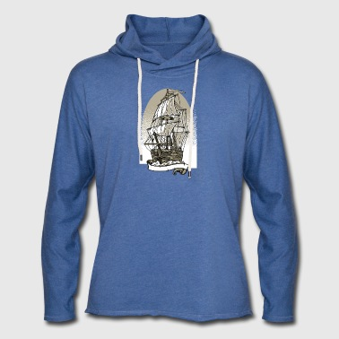 Ship 1 - Let sweatshirt med hætte, unisex