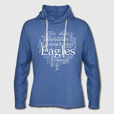 Eagles vit text - Lätt luvtröja unisex