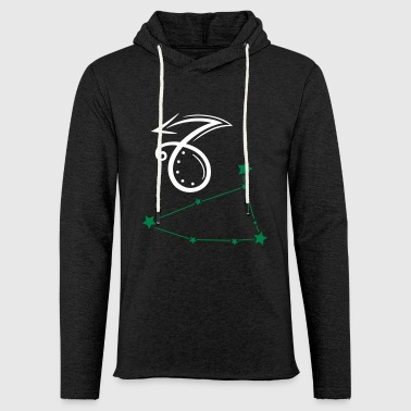 Astrological zodiac, capricorn. - Light Unisex Sweatshirt Hoodie