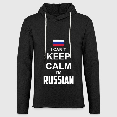 I can't keep calm i'm Russian - Leichtes Kapuzensweatshirt Unisex