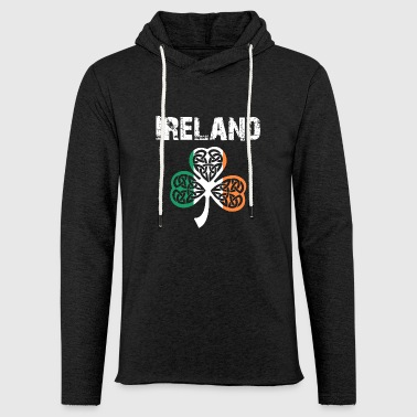 Nation-Design Irlande Shamrock 3Flbb - Sweat-shirt à capuche léger unisexe