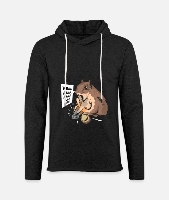 Beady Eyes Hoodies & Sweatshirts - Hamster nutcracker nuts gift - Unisex Sweatshirt Hoodie charcoal grey