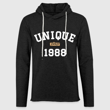Unique uni1988 - Sweat-shirt à capuche léger unisexe