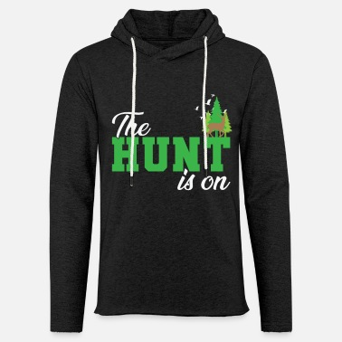 Konijn The Hunt is On Hunter in het bos met dieren - Unisex sweatshirt hoodie