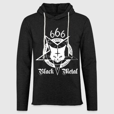 Black Metal Black Metal Cat - CATAN - Sweat-shirt à capuche léger unisexe