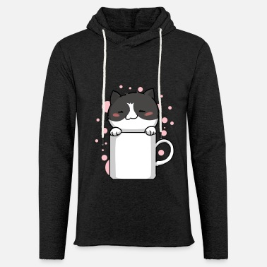 Kawaii Kitty Kawaii Cute Kawaii Cat - Sudadera ligera unisex con capucha