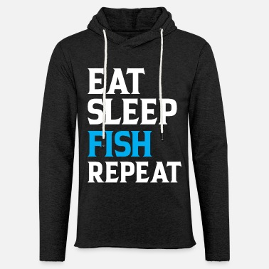 Junggeselle Eat Sleep Fish Repeat - Unisex Kapuzen-Sweatshirt